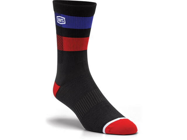100% Flow Socken schwarz/rot